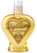 Liquid Love Warming Massage Lotion Pina Colada 4 Ounce