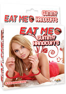 Eat Me Gummy Handcuffs Strawberry Red One Size Fits All