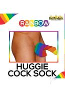 Rainbow Huggie Mens Cock Sock Multicolor