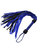 Flogger Suede Suede Black And Blue 18 Inch